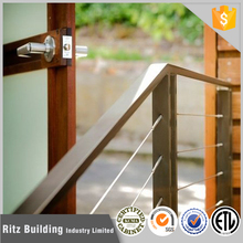 stainless steel wooden baluster design railing and fencing