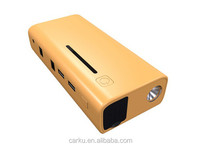 emergency car portable battery jump starter for diesel and gasoline car charge for smartphone ,ipad, laptop pc