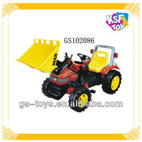 Toy pedal tractor, baby ride on digging michine car