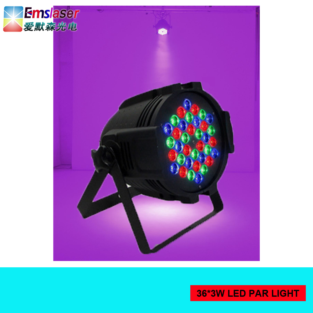 most popular product in asia 36x3w led par rgb dmx stage lighting