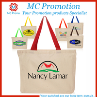 Printing tote canvas cotton shopping bag