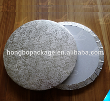 Edge Wrapped Silver Corrugated Round Foil Cake Boards