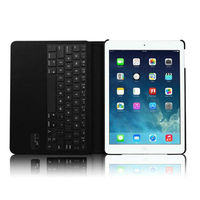 For IPad Air 5th Rotating Stand Leather Case Cover with Bluetooth Keyboard