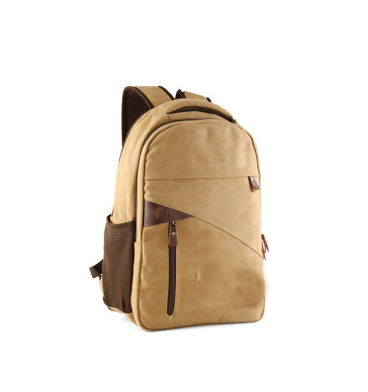 BA-1437 College Bag Waxed Canvas Backpack Wholesale Canvas Backpack