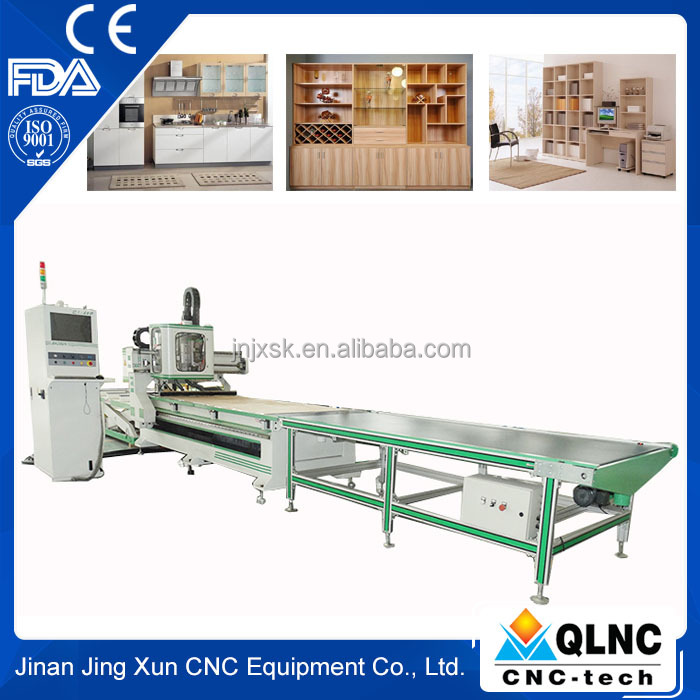 furniture machines and equipment cnc wood panel cutting machine/ auto load and unload cnc router