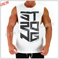 2018 Newest style men gym sleeveless t shirts running wear fitness tank tops