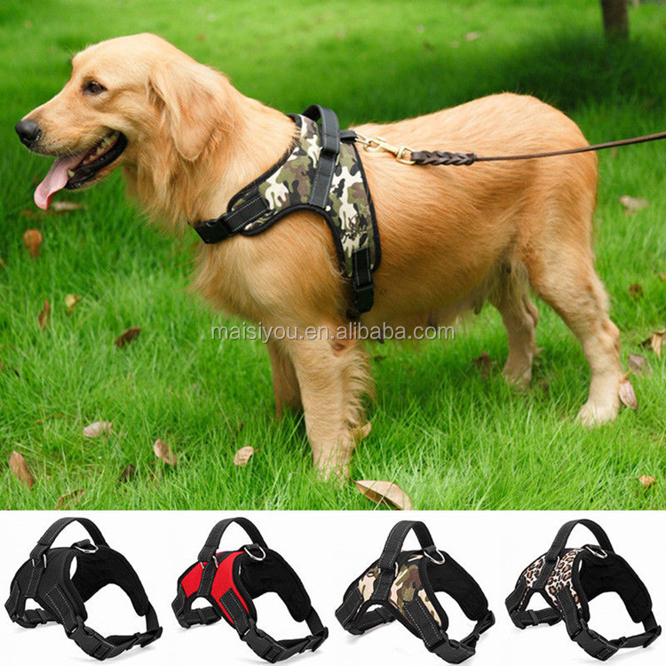 Professional manufacturer outdoor pet chest strap soft safety dog harness for large dogs
