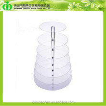 DDC-0265 Trade Assurance Tier Cupcake Disposable Plastic Stand