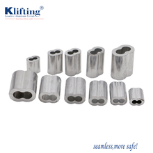 Din3093 Stainless Steel Metal Wire Rope Aluminium Cable Crimp Hose Ferrule Clamp Fittings Joint Oval Sleeve For Hoses