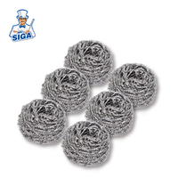 Mr.SIGA hot sale 6pcs kitchen cleaning stainless steel wire sponge scourer