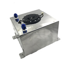 Aluminum polished silver fabricated aluminium Square motorcycle fuel tank