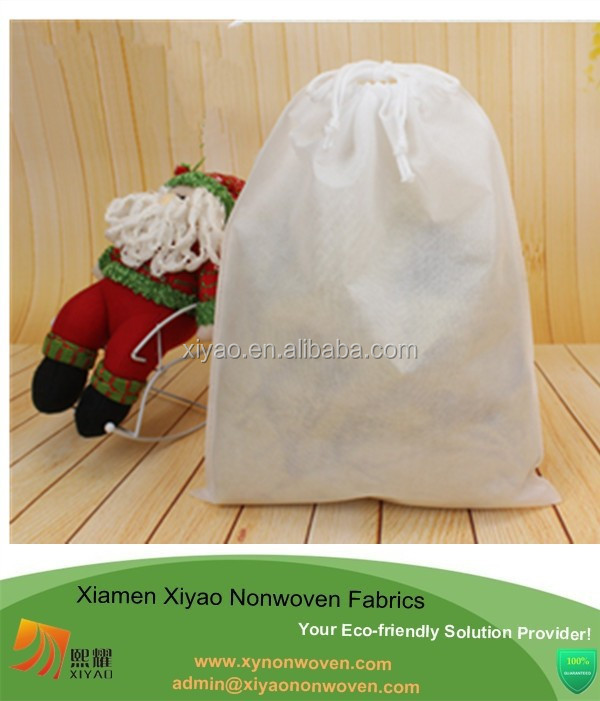 Non-Woven Black Color Shoe Bag with drawstring for travel/carrying with Cosmos Fastening Strap promotional bag