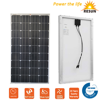 mono 120W 100W 80W price per watt solar panels for solar panel system