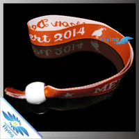 2015 customer new popular woven quality wristbands for event festival