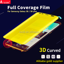 yellow full cover HD TPU holographic screen protector for Samsung s8
