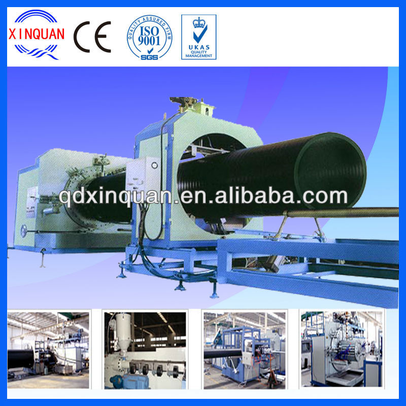 hdpe large caliber hollowness wall winding pipe machine,hdpe pipe fusion machine price