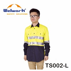 Work suit 100% Cotton Uniforms with Reflective tape