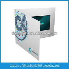 4.3inch lcd video greeting paper cards, video paper brochure