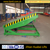 CE ISO9001 used motorcycle cargo lift yard ramp