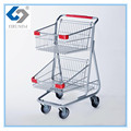 Customize top quality supermarket trolley push cart for sale
