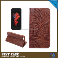 Strong magnetic flip cover wallet case for iphone 5se leather back cover