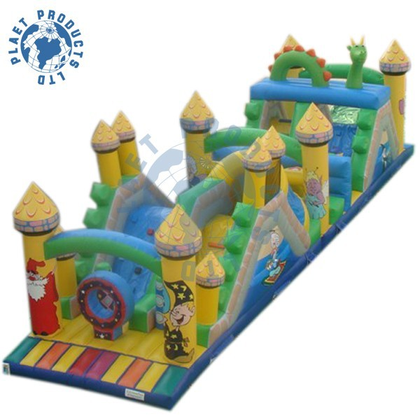 Inflatable Outdoor Obstacle Course Equipment (PLG40-044)