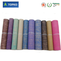 TOPKO China Eco Friendly Yoga Mat Material Rolls/Natural jute PVC yoga mat