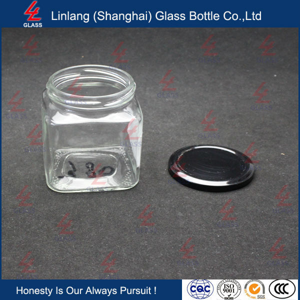 clear glass bottle for jam tomato sauce with high quality