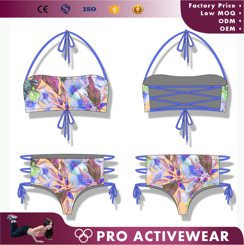 Factory price teenage girls Sexy Swimwear tow Piece Swimsuits Female Swimming wear Bathing Suits