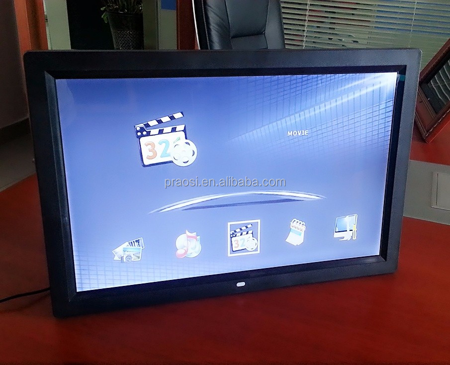new 16:9 hot selling 17 inch photo frame of display led