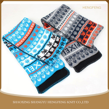 China manufacturer factory directly sell men scarf, custom jacquard pattern polor fleece scarf