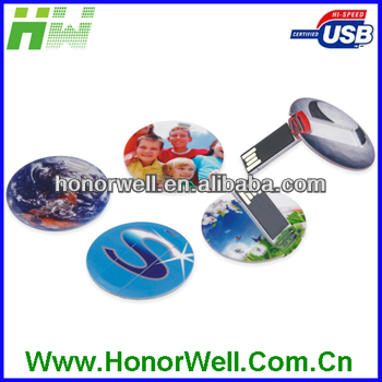Round Card USB Drive for Wedding gift