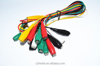 Meter Colored Insulating Test Lead Cable Set Double Ended Alligator Clips