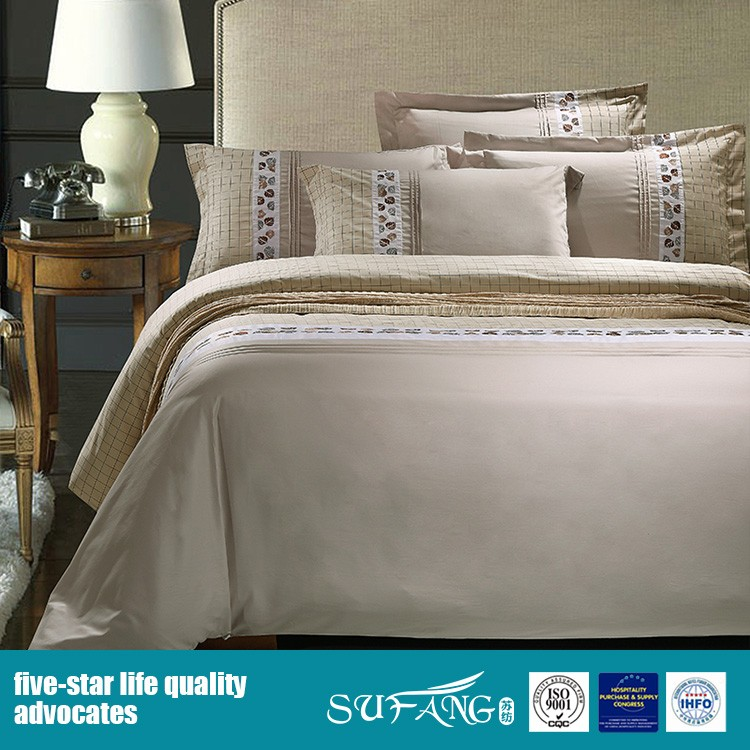 Classic luxury 300TC 100% pure cotton bedding sets with embroidered