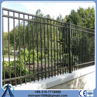 Colorful double anti-corrosion rectangular tube fencing (SGS Certified Factory)