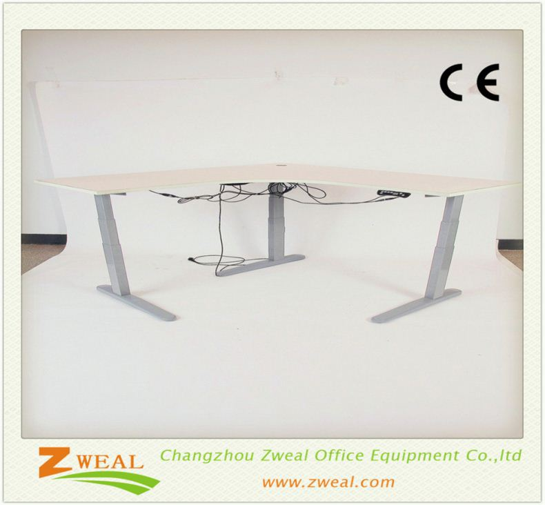 up down office lifting table ergonomic l shaped electric executive desk