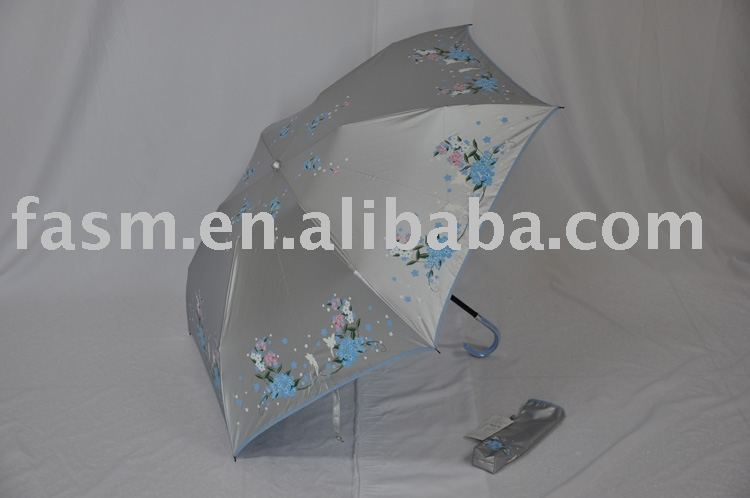 Mini HOOK 3 Folding Umbrella- 190T Polyester fabric with preventing 99% UV