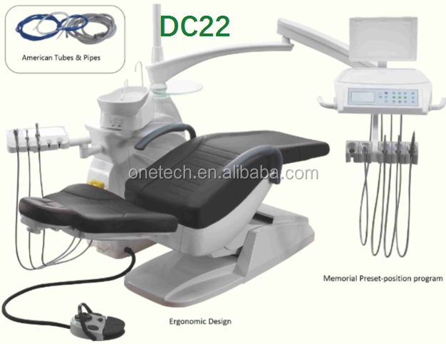 Grand design PU dental chair with dental chair lamp / dental chair unit korea hotsale DC22