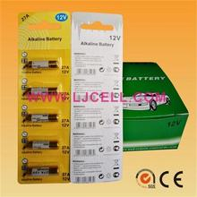 china factory 12v 27A super alkaline dry battery A27 with 5pcs/blister card packing