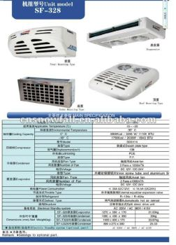 refrigeration unit for refrigeration/freezer truck