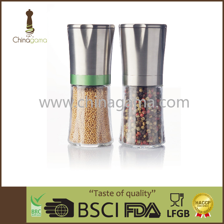stainless steel himalaya pepper and salt mill