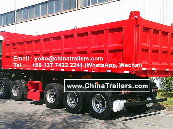 ChinaTrailers manufacture Side Dump trailer Tipper Semi Trailer