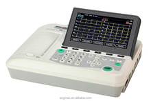 6 channel ECG machine,12 leads 6channel ECG monitor,ecg machine with 7 inch LCD screen