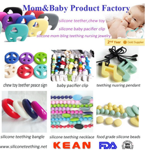 FDA Free Food Grade Silicone Teething Beads Teether/Baby Chew Toy/Sensory Toys