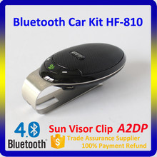 2016 High Quality Multipoint Speakerphone HF-810 V4.0 + A2DP Sun Visor Bluetooth Handsfree Car Kit with DSP Technology