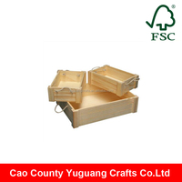 Handmade Polishing Cheap Wooden Fruit Crates