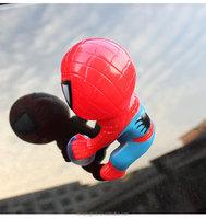 Cute 16CM Vinyl Sucker Spider Man Toy Climbing Spider Man Automotive Car Window Doll Car Home Interior Decoration