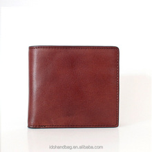 High Quality Mens Italian Vantage Leather Classic Bifold Credit Card Wallet with Coin Pocket