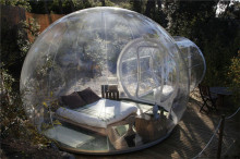Outdoor Single Tunnel Inflatable Bubble Tent Family Camping Backyard Transparent Bubble Tent