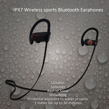 Most Attracted Sport IPX7 Waterproof Smallest Bluetooth Headset Noise Reduction Headsets for Cell phones--RU9